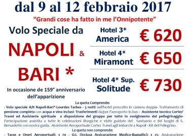 Lourdes da Napoli e Bari