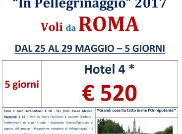 Lourdes Da Roma 25 maggio