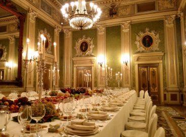 A cena con l'orchestra a Palazzo San Bonifacio