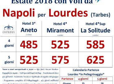 Lourdes con voli da Napoli