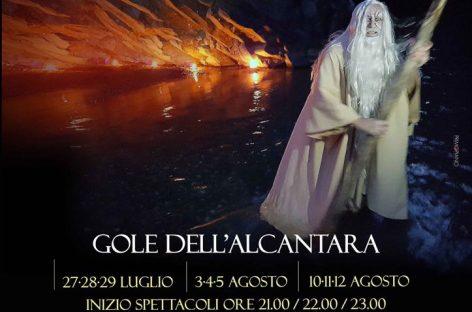 """""""Inferno di Dante"""" Alle Gole dell'Alcantara"""