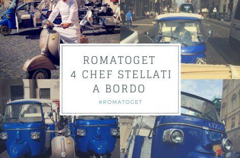 Quattro chef stellati a bordo di ape calessino e vespe in giro per Roma