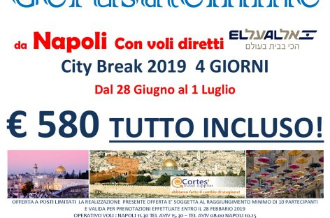 City break a Gerusalemme e Tel Aviv da Napoli