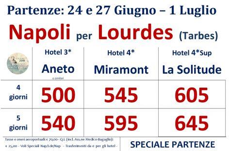Lourdes con Voli speciali da Napoli – Speciale Giugno –
